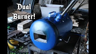 Propane forge made from an air tank!