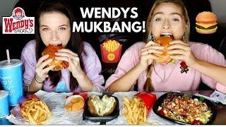 WENDYS MUKBANG! Baconator, fries, nuggets + vegan options!