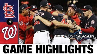 Nationals clinch first World Series trip!   Nationals-Cardinals MLB Highlights