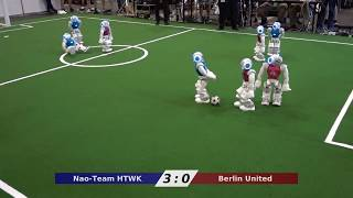 RoboCup World Championship 2017 SPL Match Berlin United vs. Nao-Team HTWK
