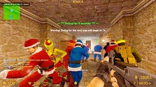 Counter Strike Source Zombie Escape mod online gameplay on Sunlight map