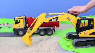 Excavator, Trucks, Crane, Bulldozer & Street Construction Vehicles | Bruder Toy Truck for Kids