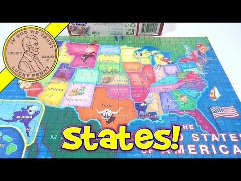 watch The 50 United States Of America 60-Piece Jigsaw Puzzle, 2011 LPF - State Capitals Included!