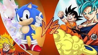 Classic Sonic VS Kid Goku! (Sonic Mania vs Dragon Ball) _ CARTOON FIGHT CLUB REACTION!!!