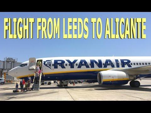 Flight From Leeds to Alicante - Ryanair 2016 4K