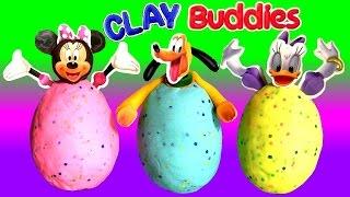 Clay Buddies Minnie Surprise Eggs Margarida & Pluto Play-Doh Egg Surprise Minnie