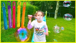 Color Bubble Learn Colors with Bubbles for kids. Lear colours with bubble wand fun
