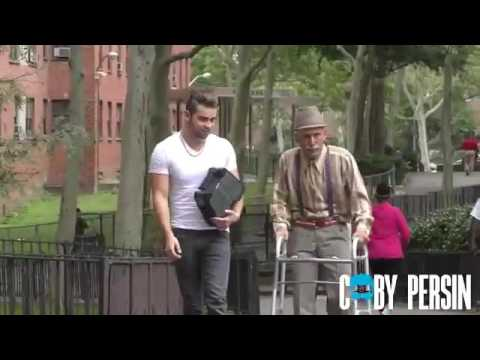 Grandpa raps in the hood like a boss!-Coby Persin