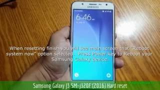 Samsung Galaxy J3 SM-J320F (2016) Hard reset