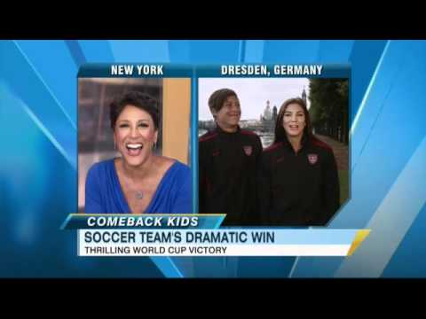 Women s World Cup Team USA Interview Abby Wambach and Hope Solo on Incredible Victory Over Brazil