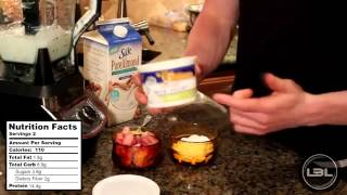 Muscle Building Protein Shake Recipes : High Protein Strawberries & Cream Smoothie