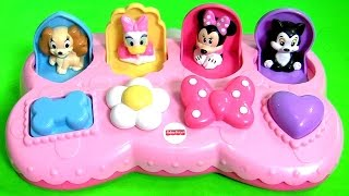 Disney Baby Minnie Mouse Pop Up Surprise Pals Toys Eggs with Figaro Daisy Duck by Funtoyscollector