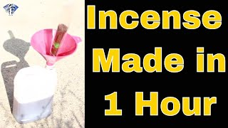 Fastest way to make incense sticks