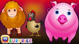 ChuChu TV Surprise Eggs Nursery Rhymes Toys | Wheels on the Bus | Farm Animals and Animal Sounds