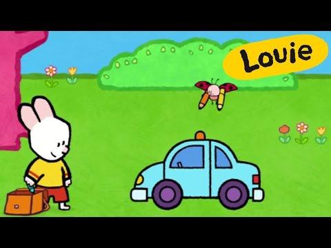 Coche de policia - Louie dibujame un coche de policia | Dibujos animados para niños