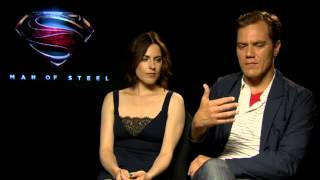 Man of Steel  Michael Shannon and Antje Traue talk villains