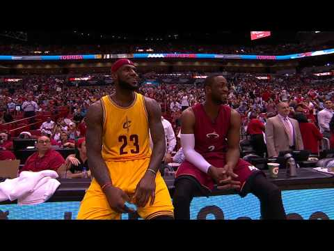 Dwyane Wade Duels with LeBron James