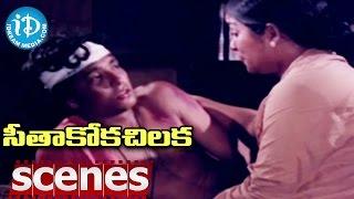 Seethakoka Chilaka Movie Scenes - Sarath Babu Hurts Karthik And His Friends    Ilaiyaraja