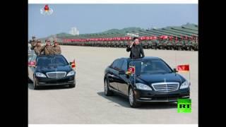 كيم جونغ أون يستعرض الفعاليات المكرسة لعيد الجيش الكوري الشمالي الوطني