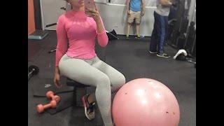 ANA CAROLINA en el gym. Presentadora dominicana ( mira como lo hase )