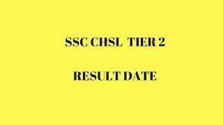 SSC CHSL Tier 2 Results 2016 / 2017
