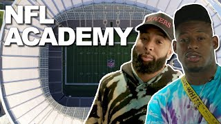 Odell Beckham Jr. & Juju Smith-Schuster Visit the NFL Academy