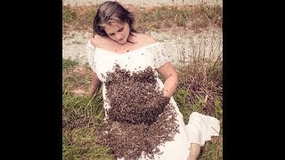 Listen to the BEES!!!  Yes, This is a Pregnant Woman Covered in Them...