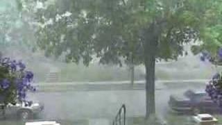 Shayna Punim's 1st hail storm