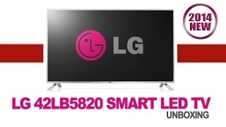 "LG 42"" FULL HD SMART LED TV (42LB5820) - UNBOXING AND TEST - 2014 NEW"