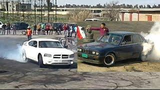 الجارجر +  الموستنغ + BMW  احلى تفحيط استعراض نادي اكشنها في الموصل