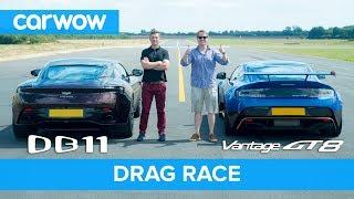 Aston Martin Vantage GT8 vs DB11 - DRAG RACE, ROLLING RACE & BRAKE TEST   Mat vs Shmee pt 3/4