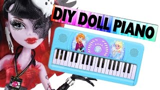 How to make a Doll Piano / Keyboard - Easy Doll Crafts - simplekidscrafts - simplekidscrafts