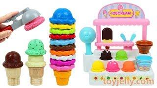 Ice Cream Cart Playset Fruits Strawberry Orange Apple Fridge Toy Kinder Joy Surprise Eggs for Baby