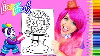 Coloring Lisa Frank Gumball Machine Rainbow Coloring Page Prismacolor Pencils | KiMMi THE CLOWN