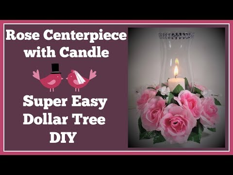 Xxx Mp4 Rose Centerpiece With Candle 🌹Super Easy Dollar Tree Diy 3gp Sex