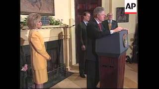 USA: CLINTON/LEWINSKY ALLEGED WHITE HOUSE SEX SCANDAL LATEST