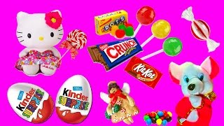 Surprise Toys and Choclate eggs for girls. Mouse Sweet House.