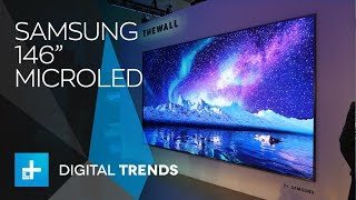 Samsung 146-inch MicroLED 4K TV and 85-inch 8K