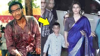 Kajol's Son Yug Looks Exactly Like Husband Ajay Devgan