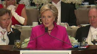 Hillary Clinton FULL REMARKS at Al Smith Dinner (C-SPAN)