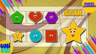 Umi Uzi | Learn Shapes | Shapes Song | Educational Video for Kids and Toddlers