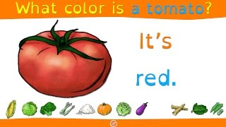 English Food Vocabulary and Color Practice for Kids - What Color Is It? | ELFLearning