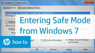 Entering Safe Mode from Windows 7