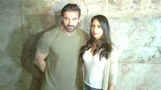 John Abraham With Beautiful Wife Priya Runchal At Force 2 Movie Screening