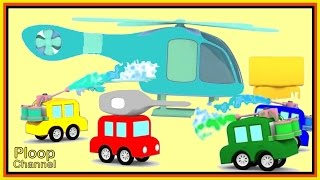 Cartoon Cars Learn to PAINT a HELICOPTER! - Construction Cartoons for Children - Kids Cars Cartoons