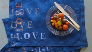 How To Make Handpainted Place Mats