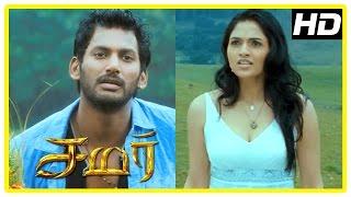 Samar Tamil Movie Scenes | Sunaina and Vishal breakup | Vishal receives courier from Sunaina