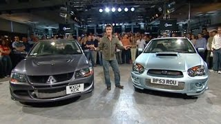 Mitsubishi Lancer Evolution Vs Subaru Impreza Power Lap - The Stig - Top Gear - BBC