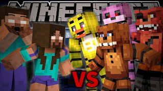Herobrine's Mom VS FREDDY FAZBEAR - Minecraft