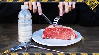 Seasoning Steak with a Sandblaster